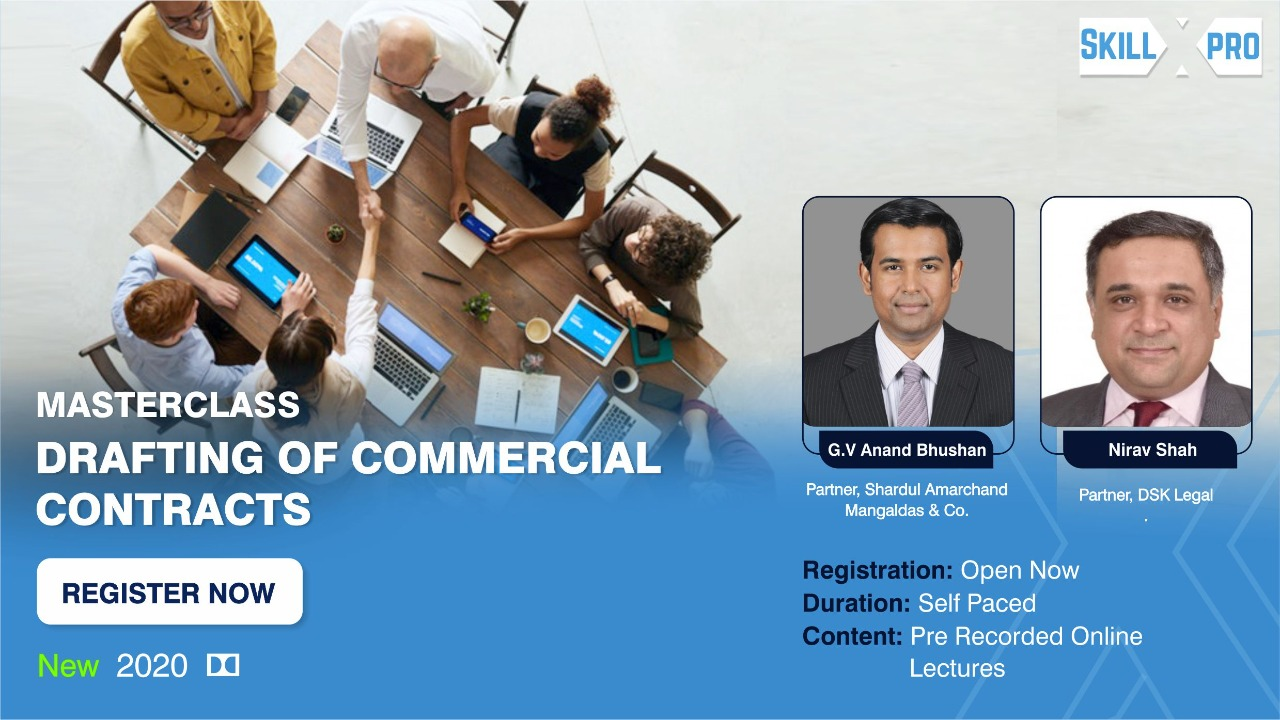 Masterclass Drafting Commercial Contract Banner