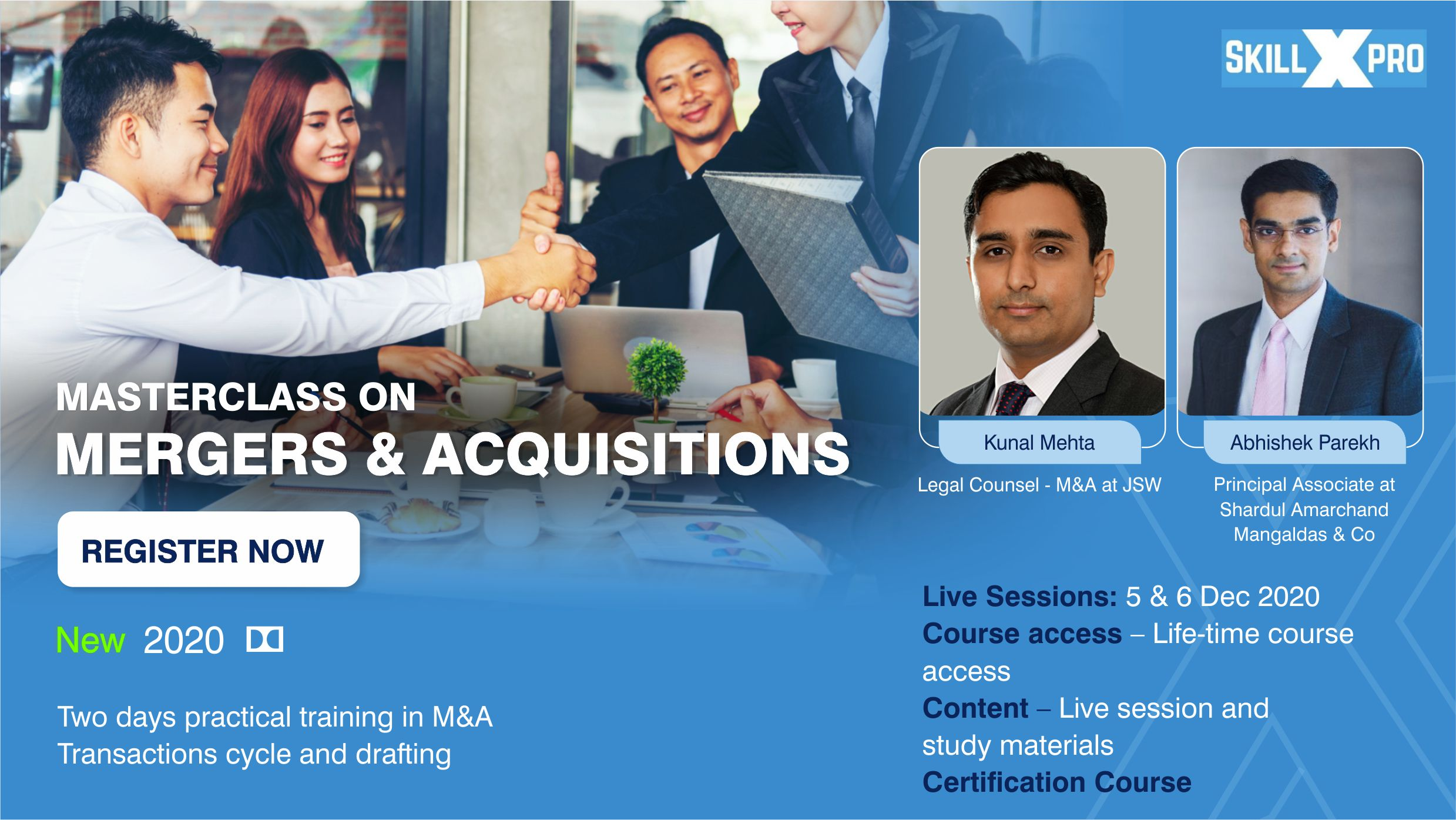 Masterclass Drafting Mergers and Acquisitions Banner