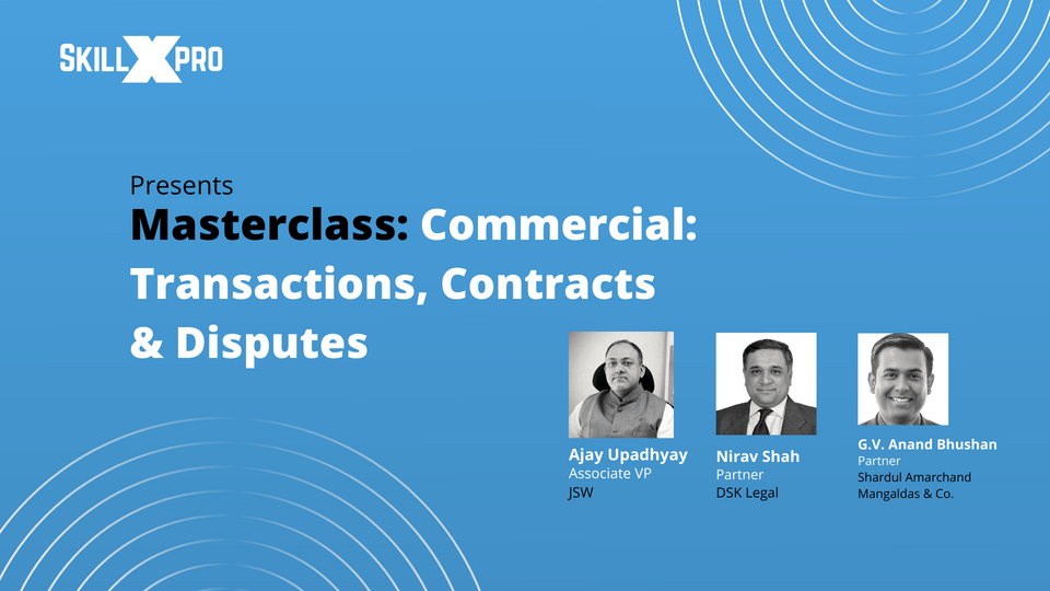 Masterclass Corporate Transactions Banner